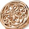 Round Medallion Ring in 14k Rose Gold