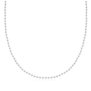 Beaded Chain in Sterling Silver