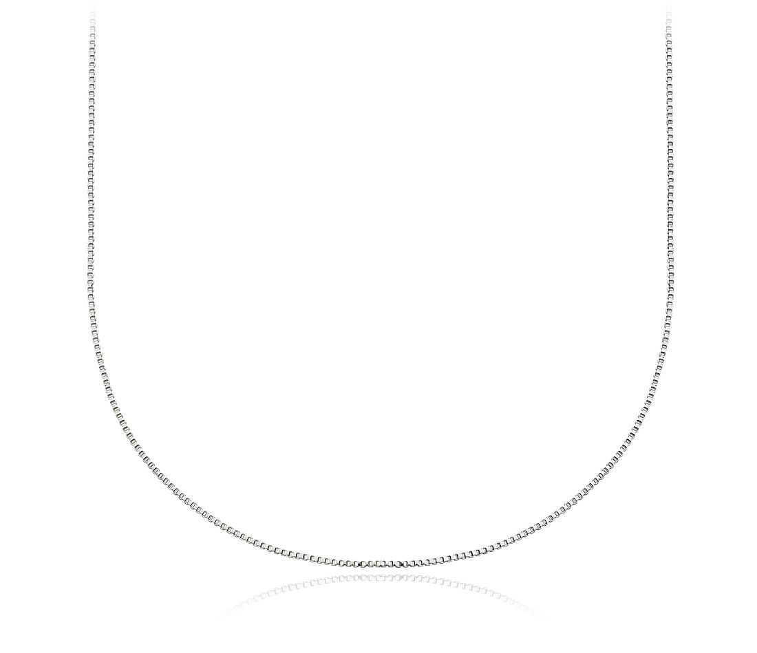 Box Chain Necklace in Sterling Silver