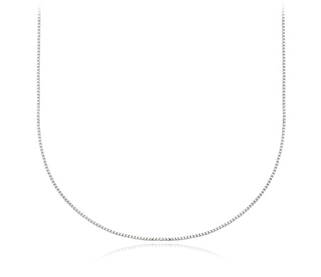925 純銀 盒子鏈項鍊