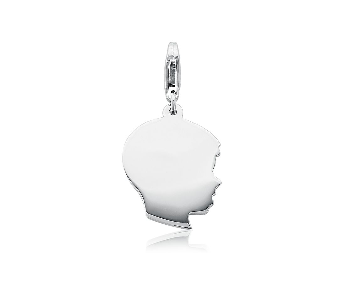 Boy Charm in Sterling Silver