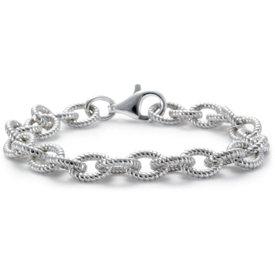 Bracelet à maillon de corde en argent sterling