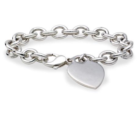 925 纯银心形-小牌手链