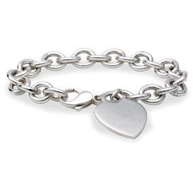 Heart-Tag Bracelet in Sterling Silver