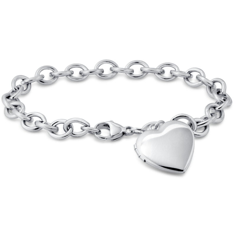 Sweetheart Locket Bracelet in Sterling Silver
