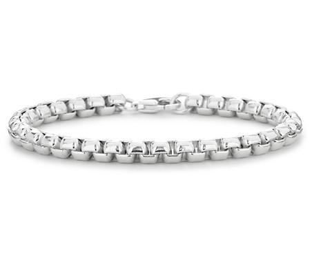 Rounded Venetian Bracelet in Sterling Silver