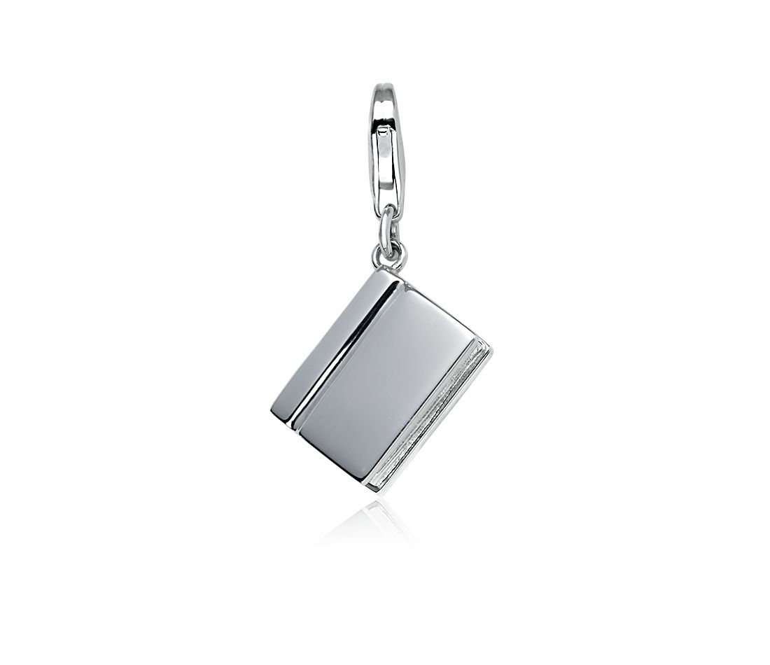 Book Charm in Sterling Silver
