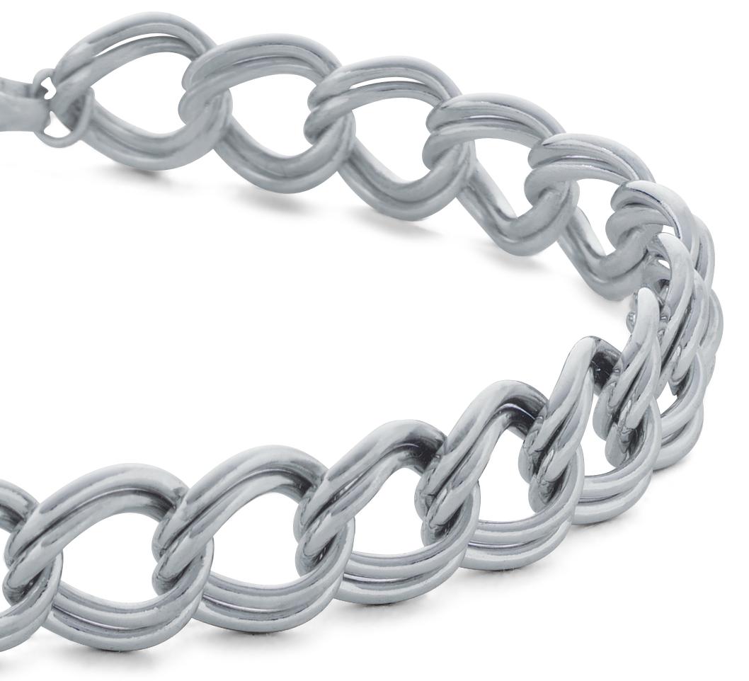 Bracelet à breloques en argent sterling