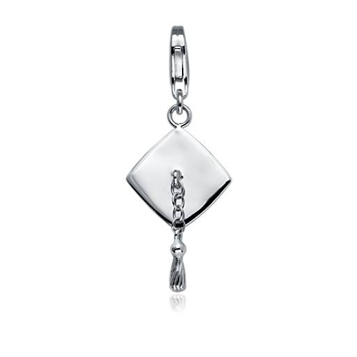 May The 4th Be With You Graduation: Graduation Cap Charm In Sterling Silver