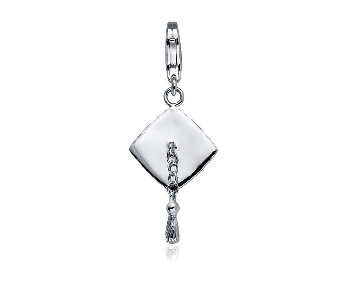 Graduation Cap Charm in Sterling Silver