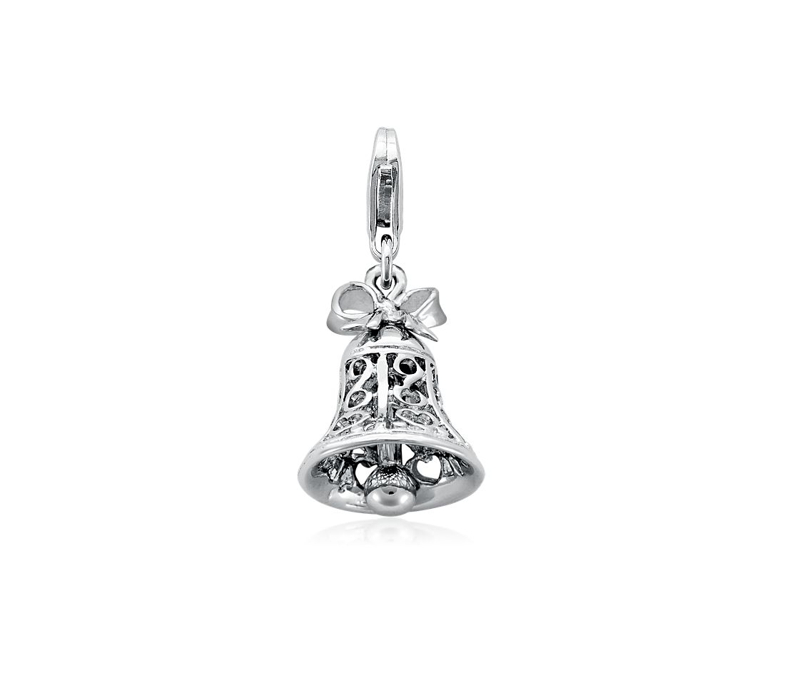 Wedding Bell Charm in Sterling Silver