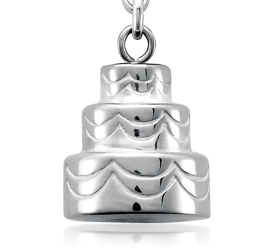 925 純銀結婚蛋糕小飾物