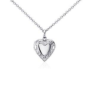 Children's Heart Locket in Sterling Silver