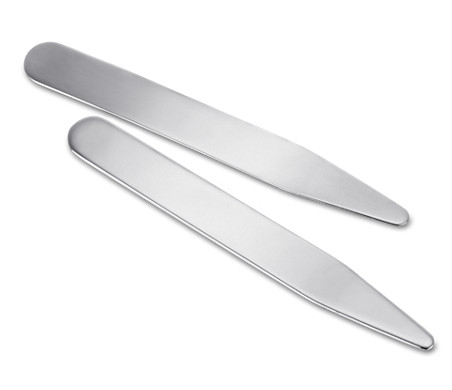 Collar Stays in Sterling Silver