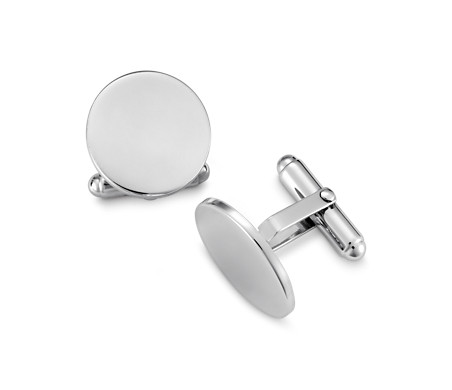 Blue Nile Plain Polished Cuff Links in Stainless Steel bb3seeK