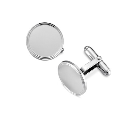 Blue Nile Framed Oval Cuff Links in Sterling Silver 7CQHHk