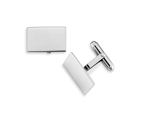 Rectangular Cuff Links in Sterling Silver