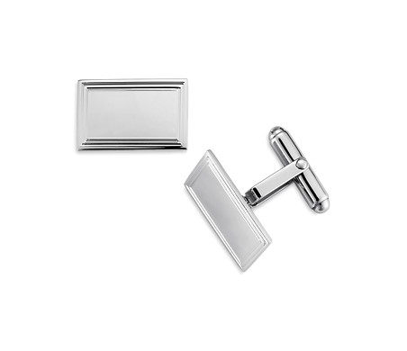 Framed Rectangular Cuff Links in Sterling Silver