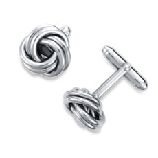 Love Knot Cuff Links in Sterling Silver