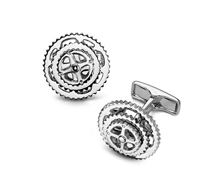 Blue Nile Cyclist Cufflinks in Sterling Silver