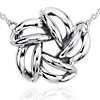 Flower Bead Pendant in Sterling Silver