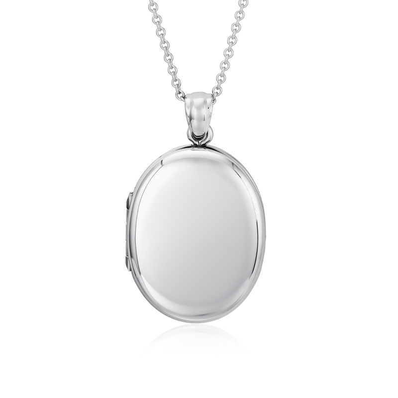 Oval Four-Picture Locket in Sterling Silver
