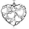 Heart of Hearts Pendant in Sterling Silver