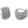 925 純銀網眼圈形耳環