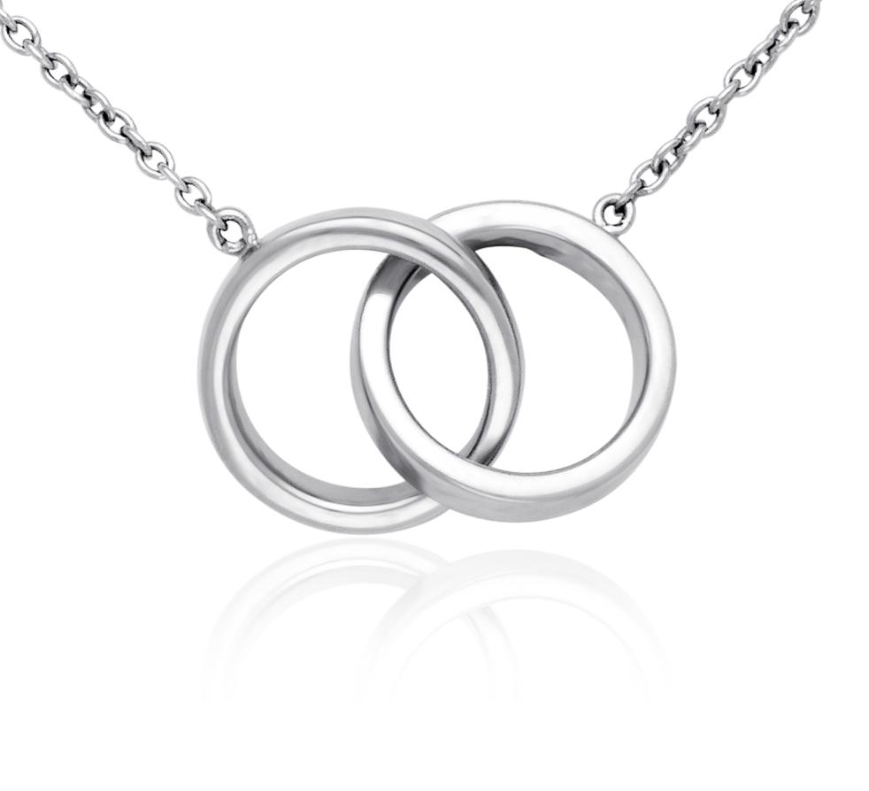 Collier anneaux Infinity en argent sterling