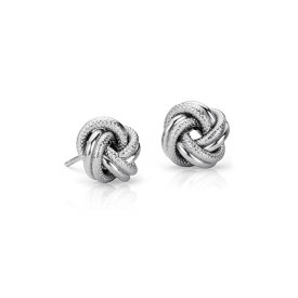 Boucles d'oreilles nœud d'amour entrelacé en argent sterling