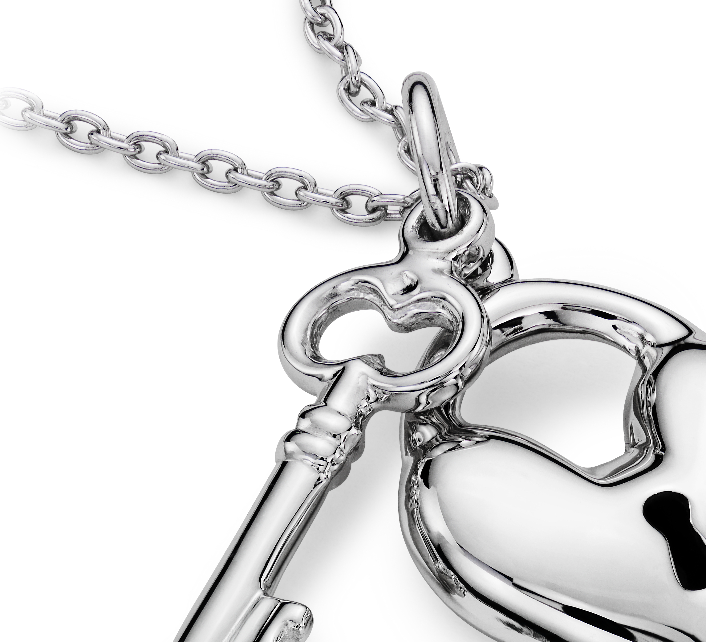 Key to My Heart Pendant in Sterling Silver