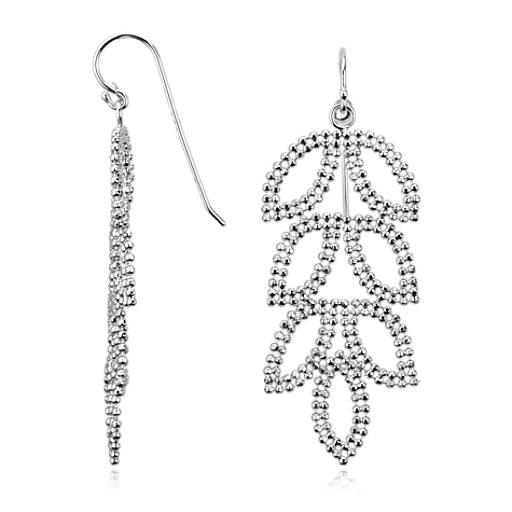 Leaf Chandelier Earrings in Sterling Silver | Blue Nile