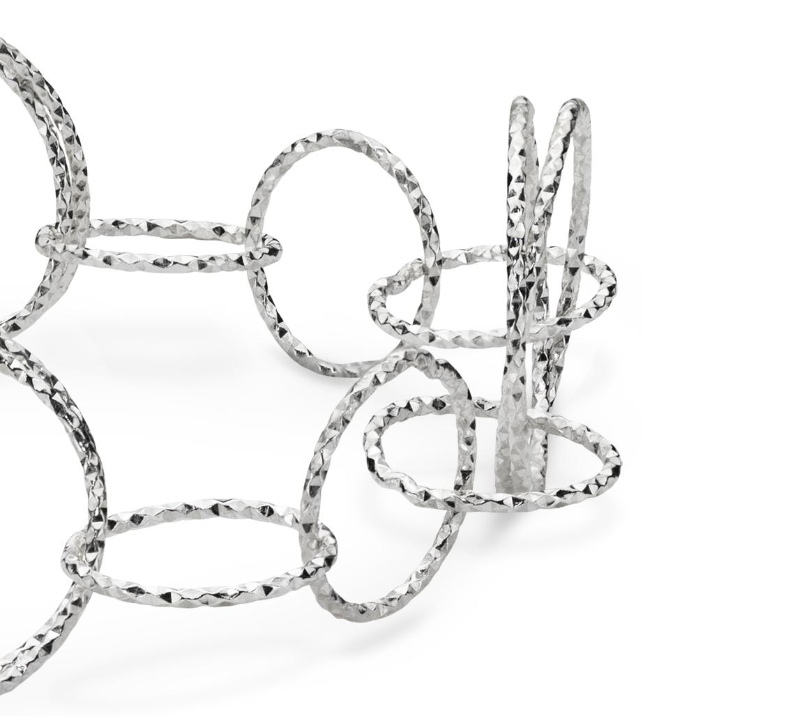 Bracelet lien Vivant en argent sterling