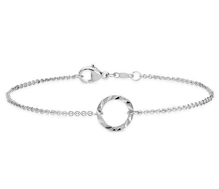 Blue Nile Silky Knot Bracelet in Sterling Silver o5ujl