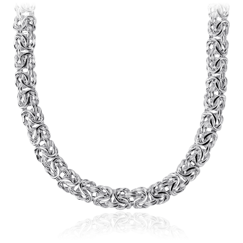 Byzantine Necklace in Italian Sterling Silver