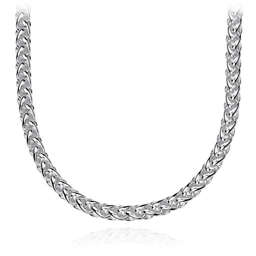 Blue Nile Rounded Venetian Link Necklace in Sterling Silver Aa5xAx