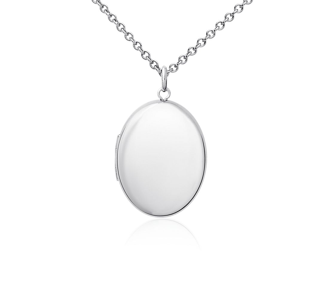 Oval Locket Pendant in Sterling Silver