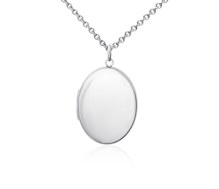 Oval locket pendant in sterling silver blue nile oval locket pendant in sterling silver aloadofball Images