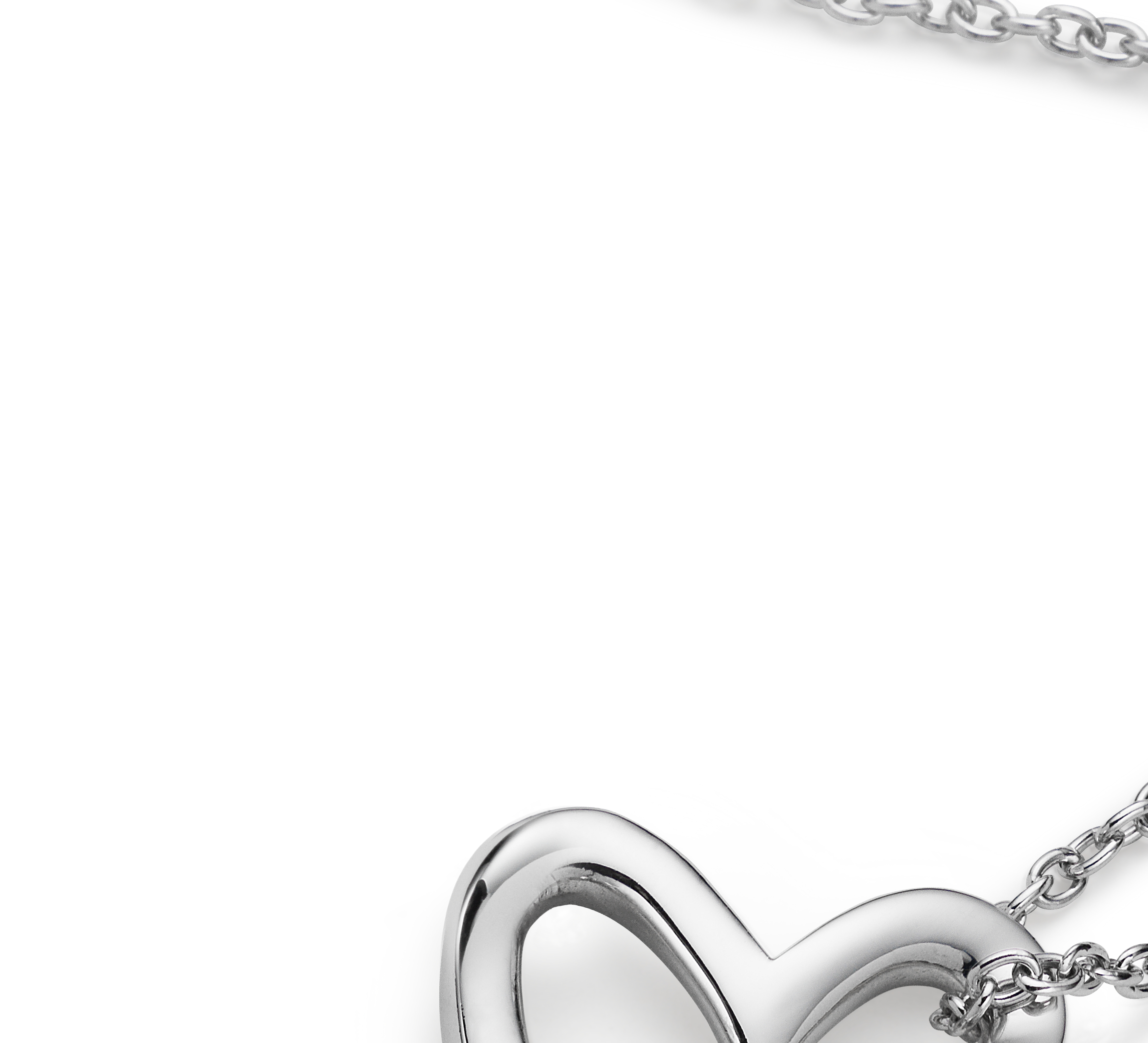 Double Heart Pendant in Sterling Silver
