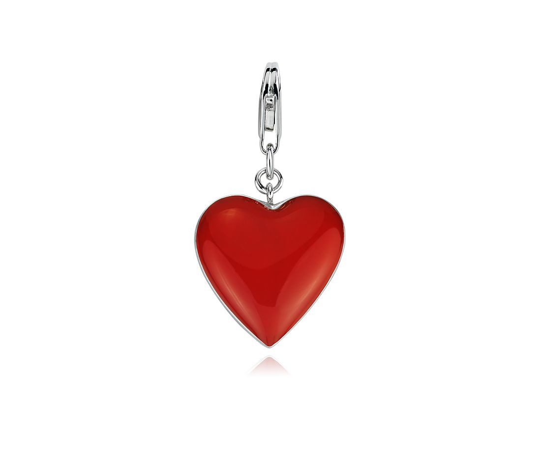 Red Heart Charm In Sterling Silver Blue Nile