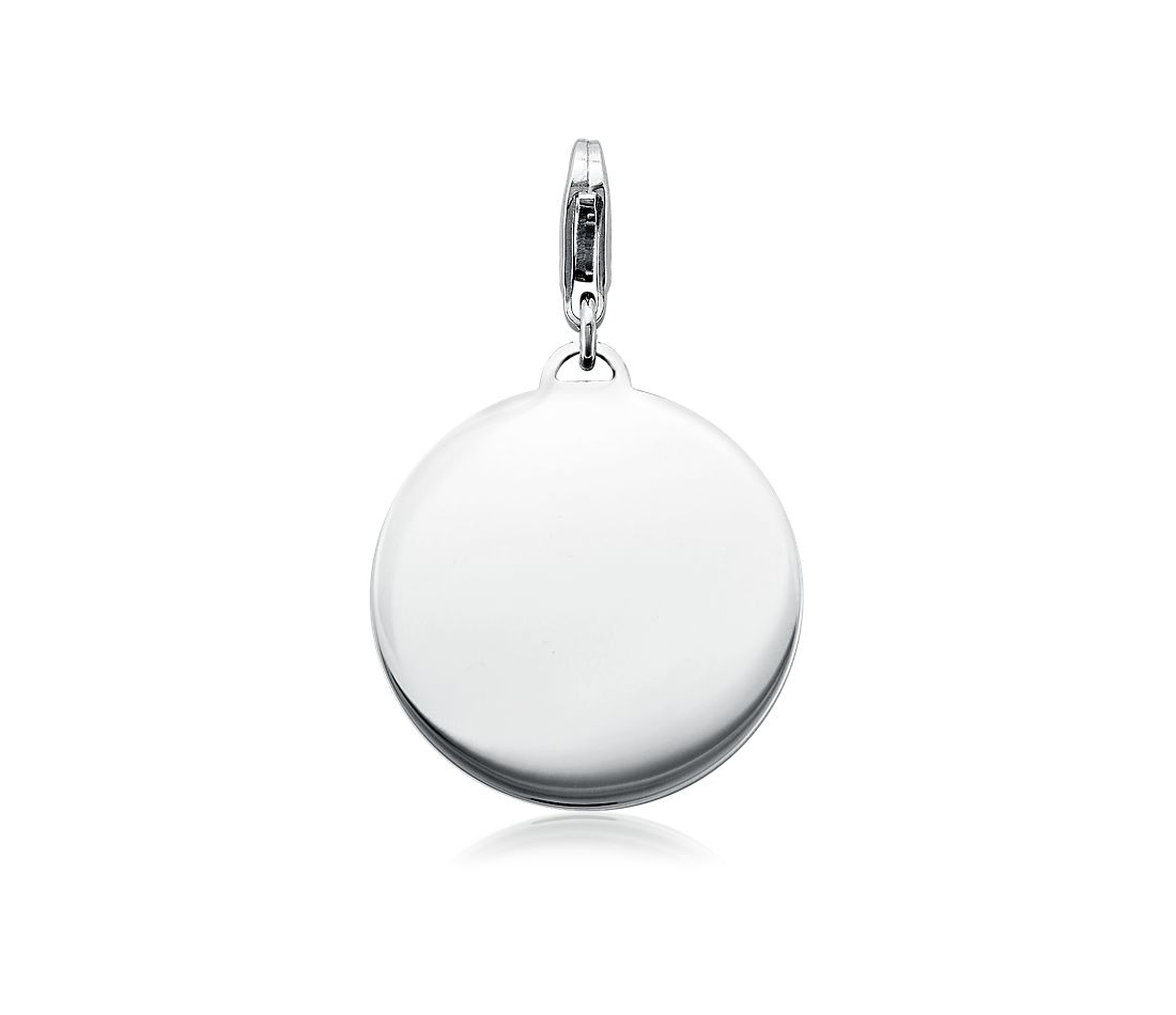 Engravable Round-Tag Charm in Sterling Silver
