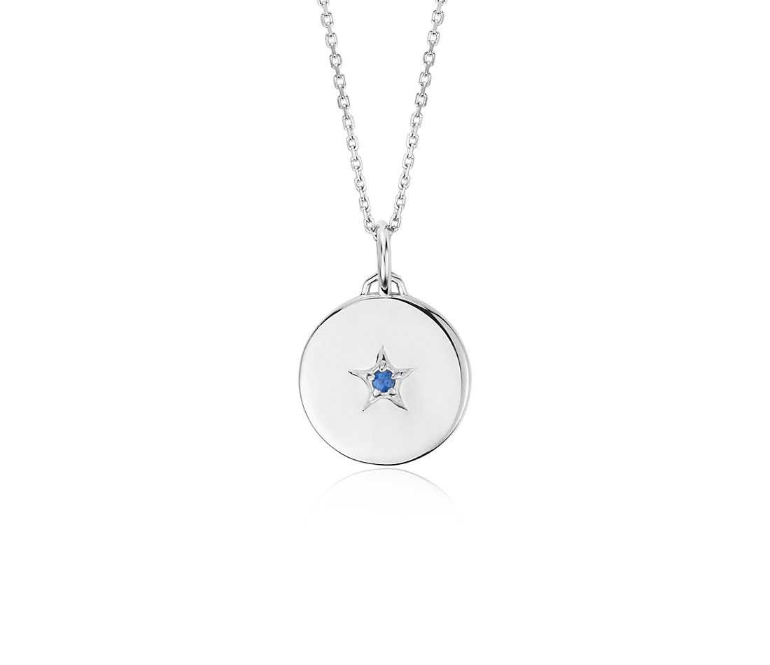 "Monica Rich Kosann Sapphire ""Wish"" Charm Pendant in Sterling Silver"