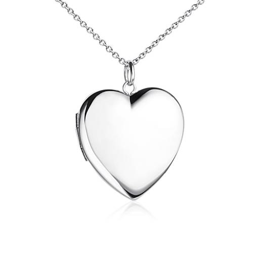 engravable sweetheart locket in sterling silver blue nile