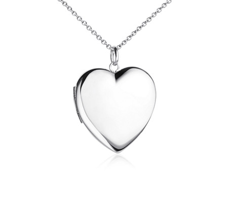 Engravable Sweetheart Locket in Sterling Silver