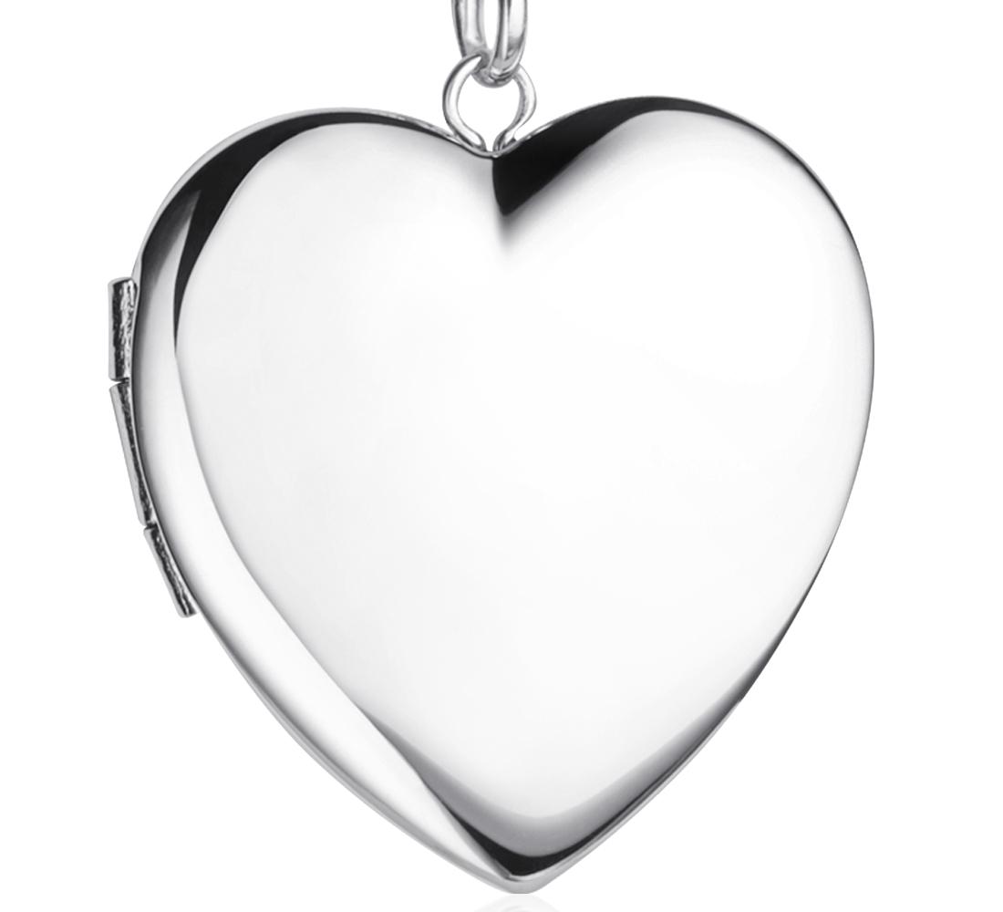 Engraveable Sweetheart Locket in Sterling Silver