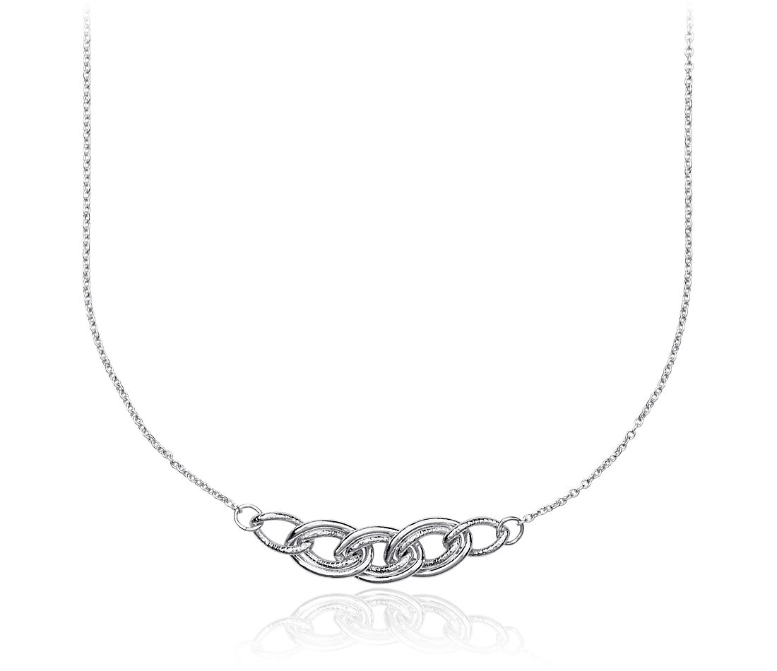 Tightrope Necklace in Sterling Silver