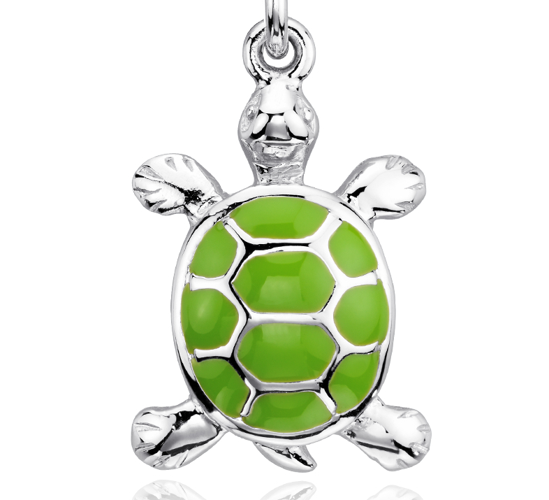 Turtle Charm in Sterling Silver