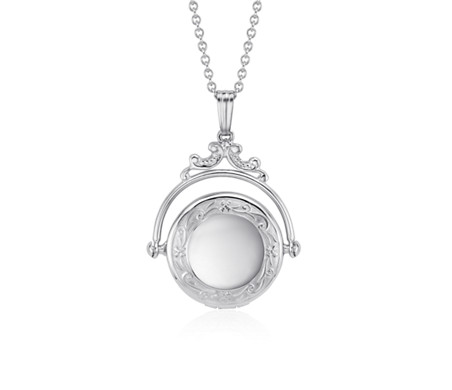 Blue Nile Vintage-Inspired Round Locket in Sterling Silver bXaQatKF6o