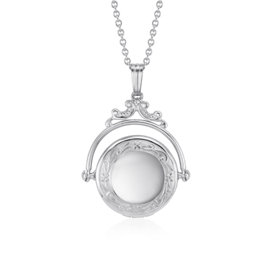 Victorian Spinning Locket in Sterling Silver