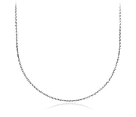 925 纯银小麦链项链